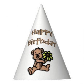 Cumpleaños del oso de la margarita gorro de fiesta