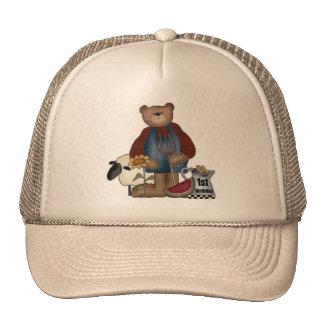 Cumpleaños del oso de peluche 1r gorras de camionero