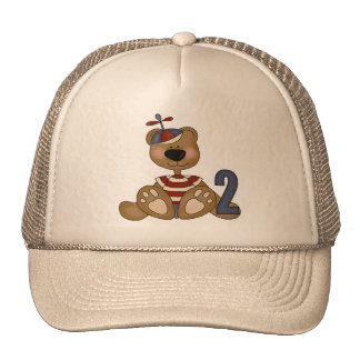 Cumpleaños del oso de peluche 2do gorro de camionero