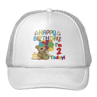 Cumpleaños del oso de peluche del feliz cumpleaños gorras