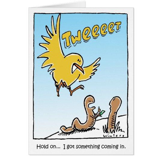 Cumpleaños del pájaro del gorjeo tarjeta de felicitación