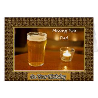 Cumpleaños del papá/del padre - difunto tarjeta de felicitación