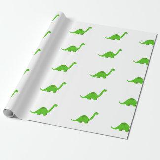 Cumpleaños del papel de embalaje del dinosaurio papel de regalo