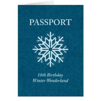 cumpleaños del pasaporte del país de las tarjeta de felicitación