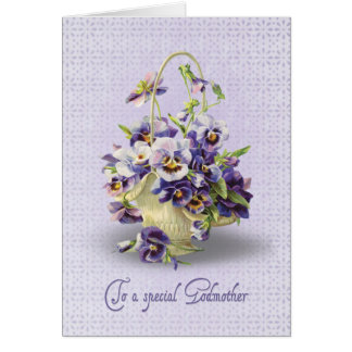 Cumpleaños del pensamiento para la madrina tarjeta de felicitación