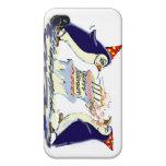 Cumpleaños del pingüino iPhone 4/4S carcasas