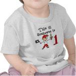 Cumpleaños del pirata del palillo 1r camisetas