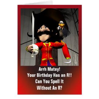 Cumpleaños del pirata felicitación