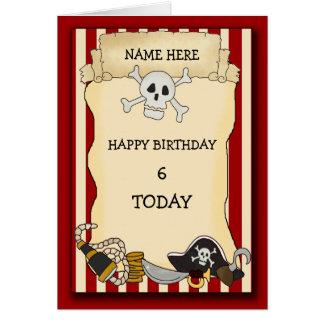 Cumpleaños del pirata felicitaciones