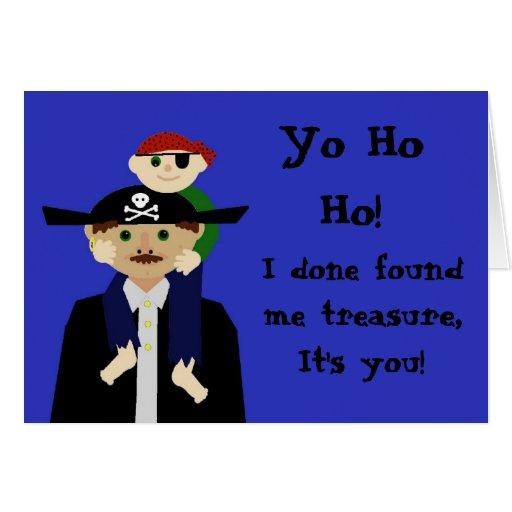 Cumpleaños del pirata tarjeta