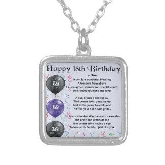 Cumpleaños del poema del hijo décimo octavo pendiente