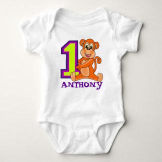Cumpleaños del puño del bebé de 12 meses body para bebé
