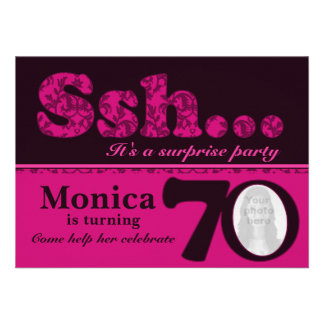 Cumpleaños del rosa de la sorpresa del ssh de la f comunicados personales