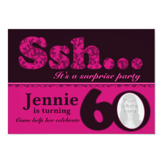 Cumpleaños del rosa de la sorpresa del ssh de la anuncio