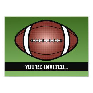 Cumpleaños del rugbi del fútbol invitación 12,7 x 17,8 cm