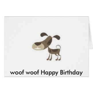 cumpleaños del tejido del tejido feliz tarjetón