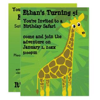 Cumpleaños del tema del safari invitación 10,8 x 13,9 cm
