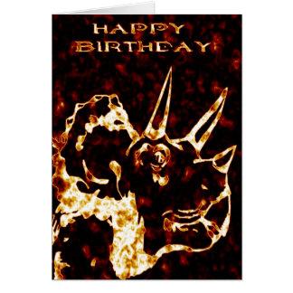 Cumpleaños del Triceratops de Firey Tarjeta De Felicitación