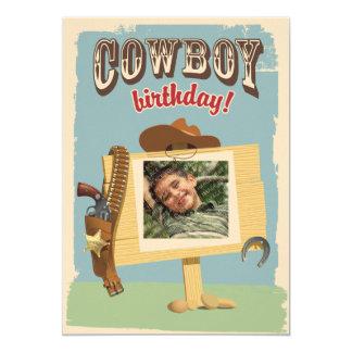 Cumpleaños del vaquero invitación 12,7 x 17,8 cm