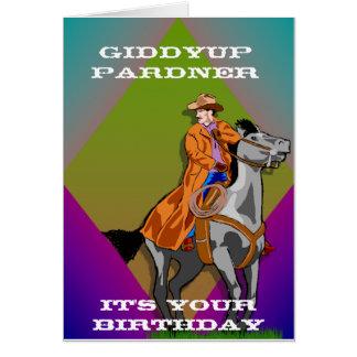 Cumpleaños del vaquero tarjeta de felicitación