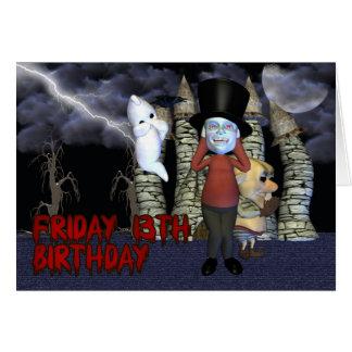 Cumpleaños del viernes 13, fantasma tarjetas
