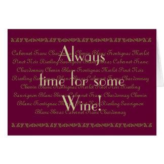 Cumpleaños del vino del vino de la cita de la dive felicitación