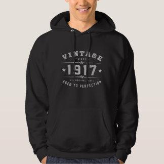 Cumpleaños del vintage 1917 sudadera