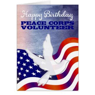 Cumpleaños del voluntario del cuerpo de paz feliz tarjeta de felicitación