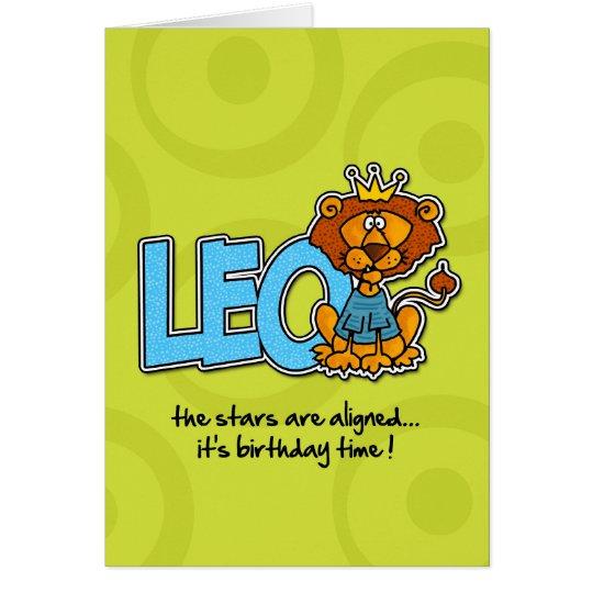 Cumpleaños del zodiaco - Leo Tarjeta De Felicitación