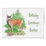 Cumpleaños divertido Brother, alguien ciervos a mi Tarjeton