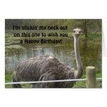 Cumpleaños divertido de la avestruz felicitaciones