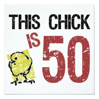 Cumpleaños divertido de las mujeres el 50.o comunicados personales