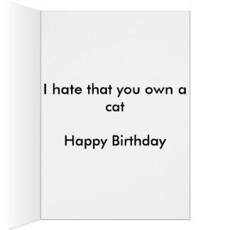 Cumpleaños divertido del amante del gato tarjeta de felicitación