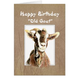 Cumpleaños divertido sobre el viejo humor de la ca felicitación