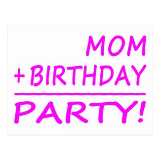 Cumpleaños divertidos de las mamáes: Mamá + Cumple Tarjetas Postales