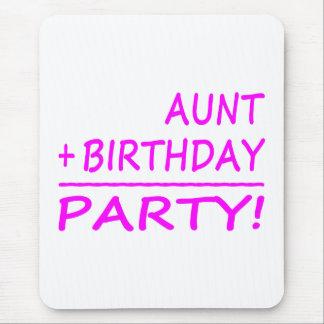 Cumpleaños divertidos de las tías: Tía + Cumpleaño Tapetes De Raton