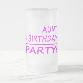 Cumpleaños divertidos de las tías: Tía + Taza De Cristal