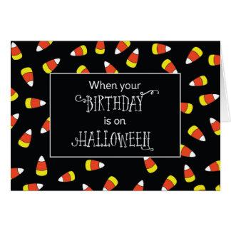 Cumpleaños dulce el Halloween, pastillas de Tarjeta De Felicitación