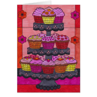 Cumpleaños dulce y feliz de la tarjeta -