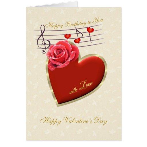 Cumpleaños, el día de San Valentín - música, coraz Felicitacion ...