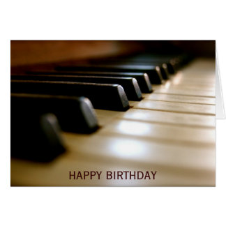 Cumpleaños elegante de la música del teclado de tarjeta