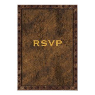 Cumpleaños enmarcado hierro RSVP de los muchachos Invitación 8,9 X 12,7 Cm