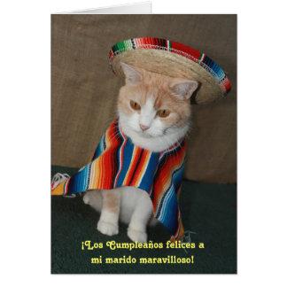 Cumpleaños español para el marido tarjeta de felicitación