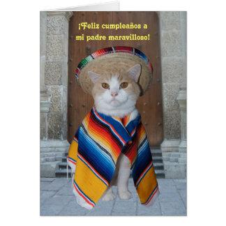 Cumpleaños español para el papá tarjeta de felicitación