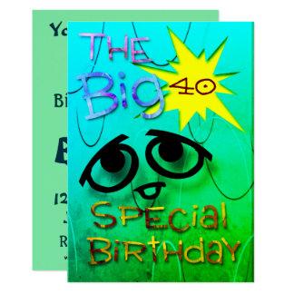 Cumpleaños especial invitación 12,7 x 17,8 cm