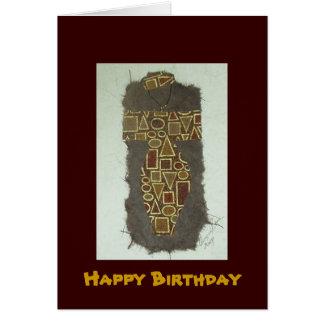 Cumpleaños étnico de la mujer del alambre feliz tarjeta de felicitación