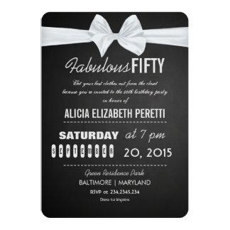 Cumpleaños fabuloso del arco de la pizarra del invitación 12,7 x 17,8 cm
