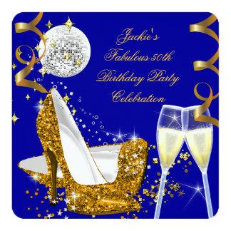 Cumpleaños fabuloso del tacón alto del brillo del invitación 13,3 cm x 13,3cm