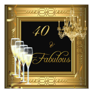 cumpleaños &Fabulous 2 del negro del oro de la