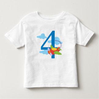 cumpleaños familius.png de 4 aeroplanos camiseta de bebé